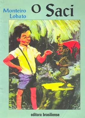 o saci - monteiro lobato - editora brasiliense - sítio do picapau amarelo - manoel victor filho - jacob levitinas - década de 1990 - década de 2000 - capa de livro - bookcover