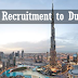 Free Recruitment to Dubai