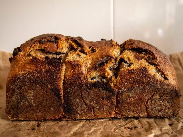 pan de centeno con chocolate