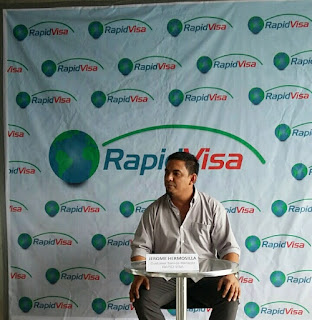 Jerome Hermosilla, RapidVisa's Customer Service Manager
