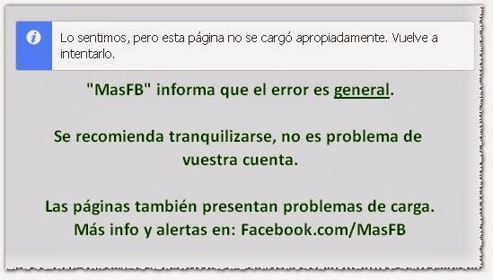 Error Facebook 2013