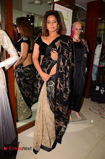 Actress Neetu Chandra Stills in Black Saree at Designer Sandhya Singh's Store Launch  0023.jpg