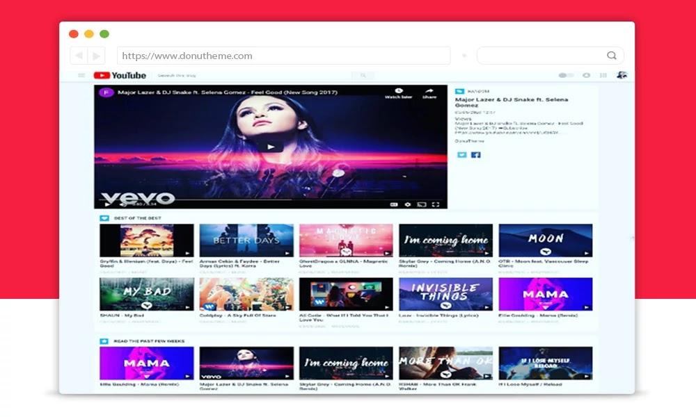 Youtube Theme Blogger Template