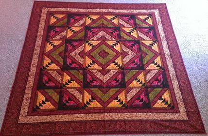 Kashmir Quilt Free Pattern designed by Jinny Beyer