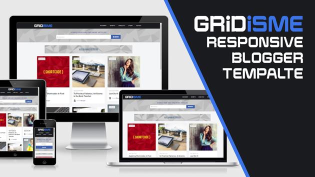 Gridisme responsive Blogger template