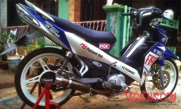 Jupiter Z New Biru Putih Modif GP Fiat Simple