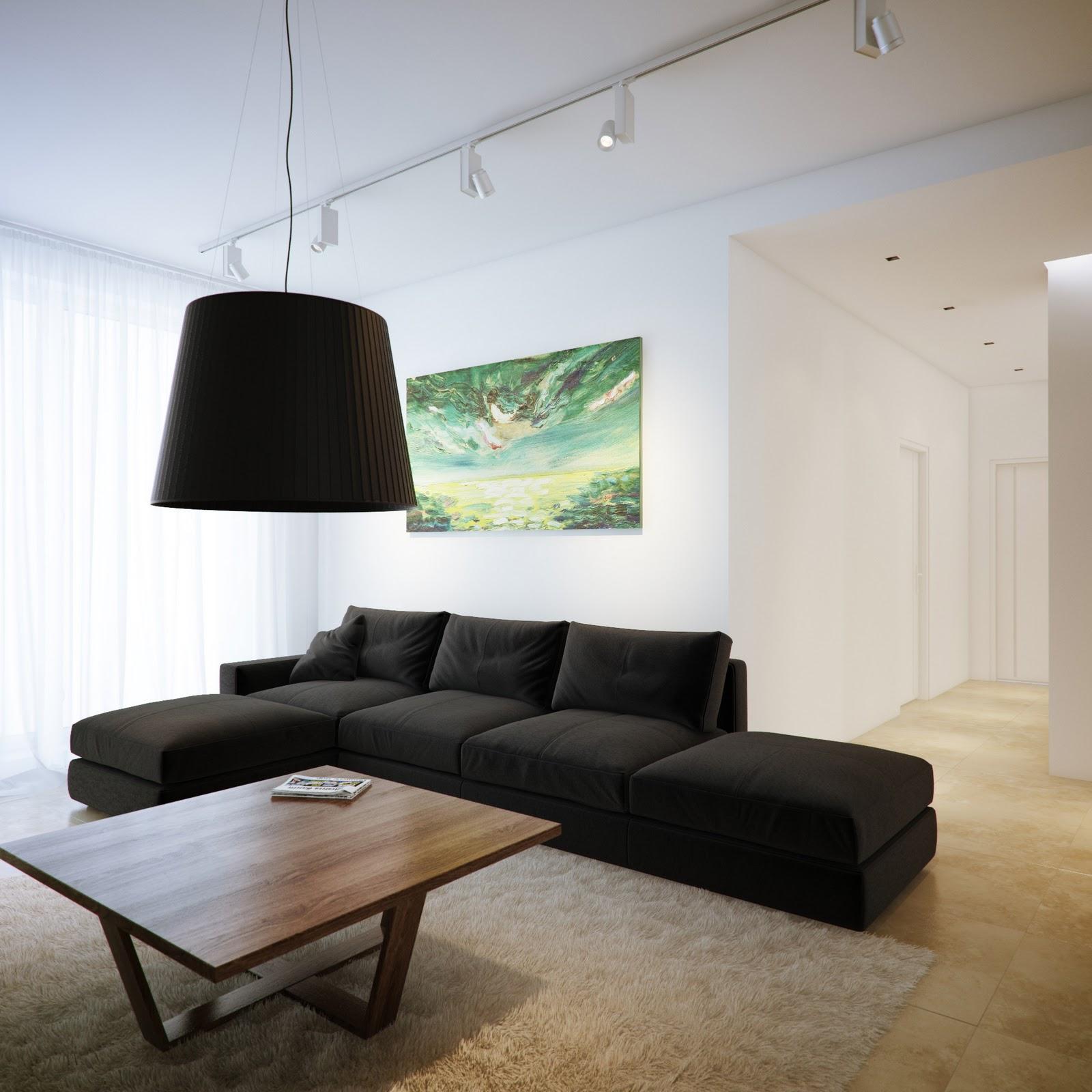 Modern Living Rooms: Modern Minimalist Interior By Sergey Baskakov