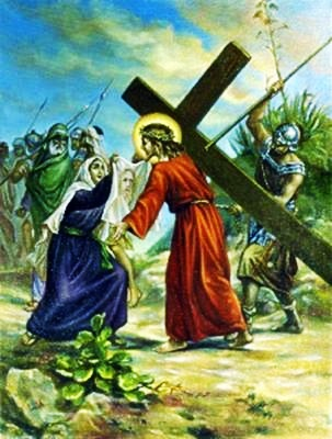 Viacrucis 6 - La Veronica Enjuga El Rostro De Jesus