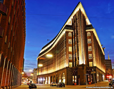 Kontorhausviertel mit Chilhaus in Hamburg ist UNESCO Weltkulturerbe in Deutschland