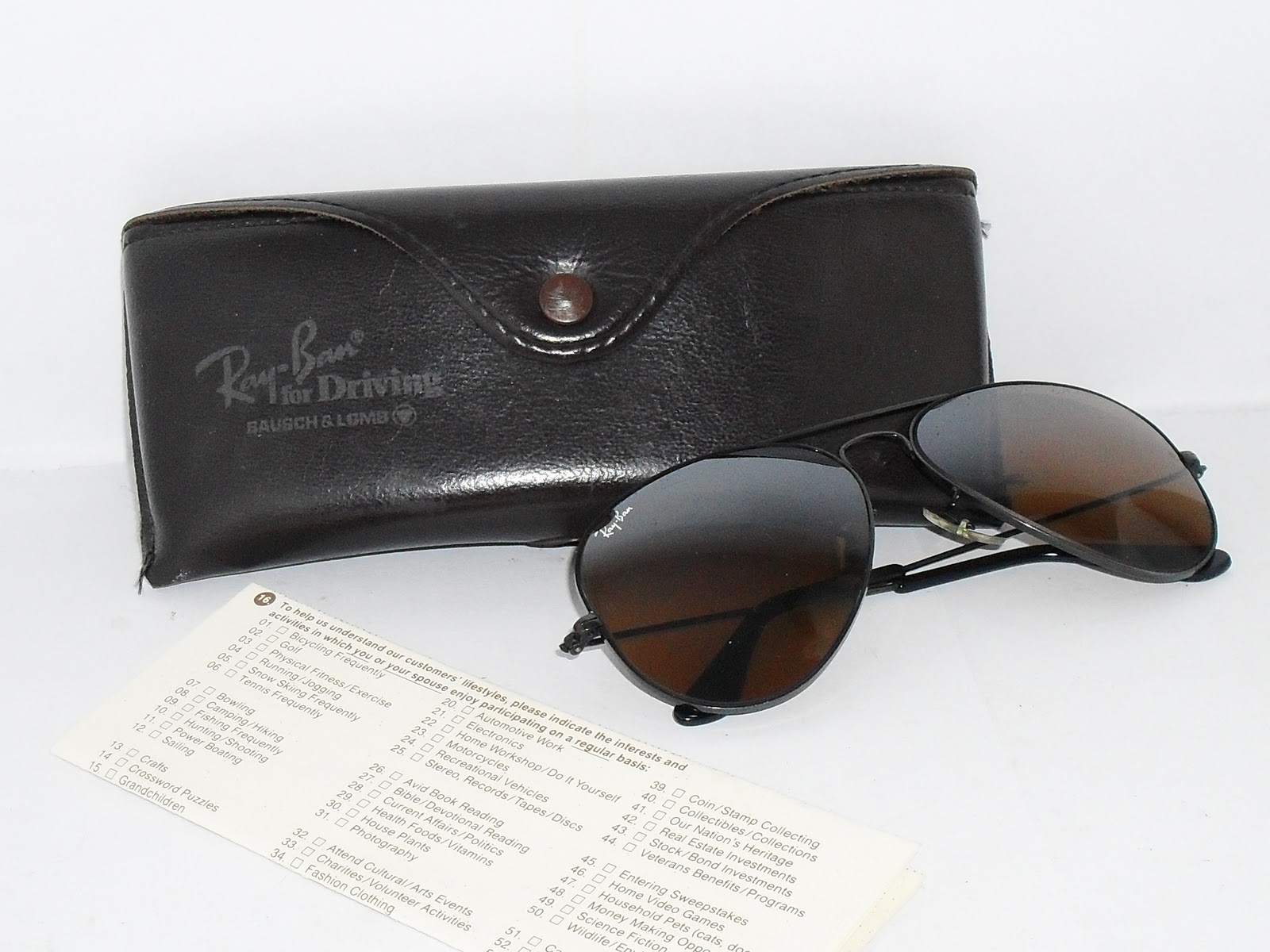 Malaya Retro Blogspot.Com  ~ SOLD ~ VINTAGE RAYBAN AVIATOR BLACK ... 355695c85f