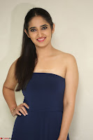 Radhika Mehrotra in sleevless Strap less Blue Gown At Prema Entha Madhuram Priyuraalu Antha Katinam Movie Interview ~  Exclusive 063.JPG