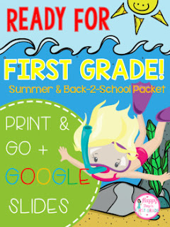 Summer and Back-2-School Packet: First Grade