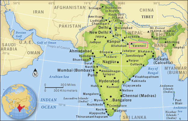 Varanasi na Índia