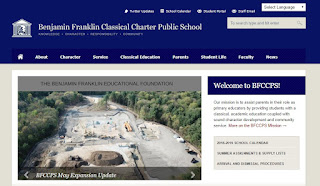 screen capture of Charter School webpage