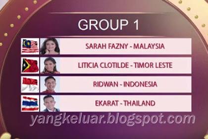 Pembagian Grup DA Asia 4 Top 24 Besar 9 November 2018