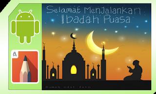 membuat background ramadhan keren