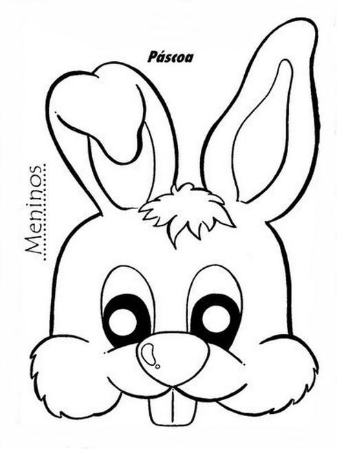Páscoa Máscaras Moldes De Coelho C Atividades E Desenhos