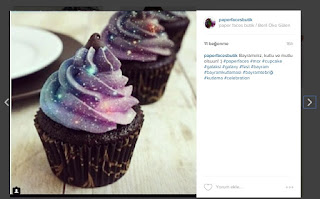 paper faces butik instagram galaxy cupcake
