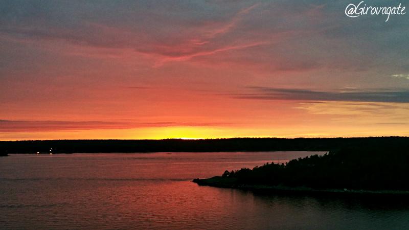 tramonto isole aland finlandia
