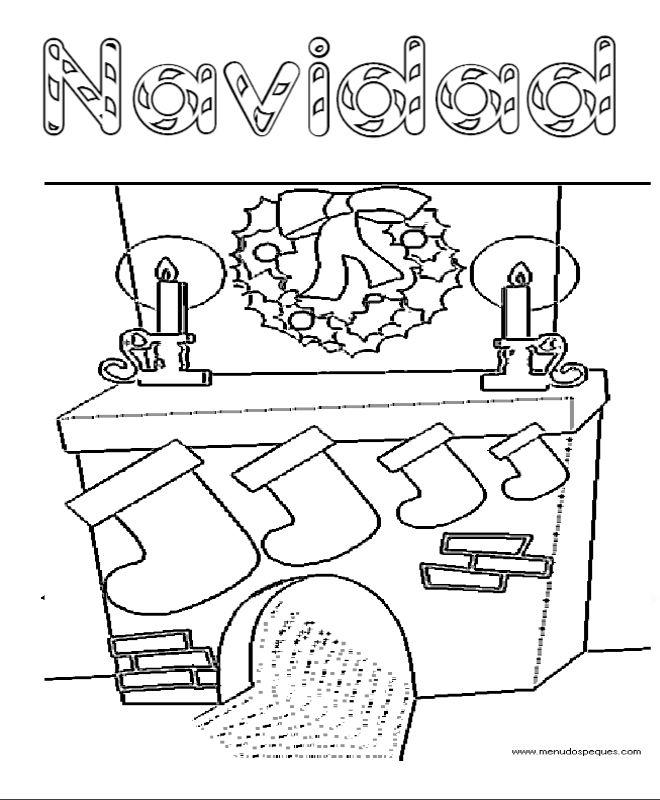 Dibujos Chimeneas De Navidad.Dibujos Para Colorear De Chimeneas De Navidad