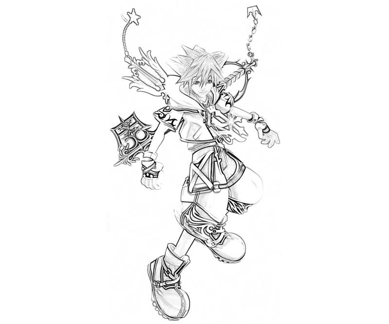 Kingdom Hearts 2 Coloring Pages Free