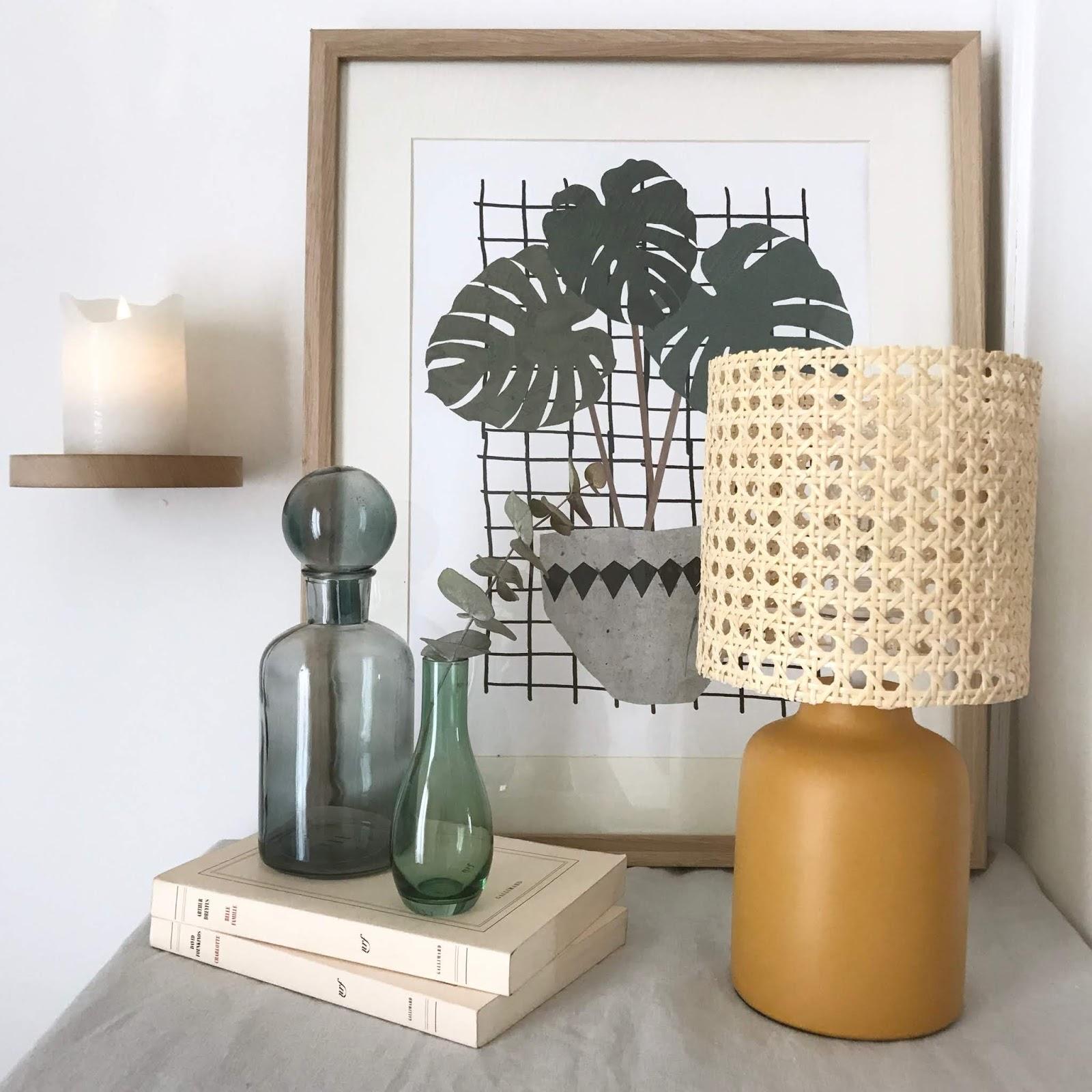 diy lampara de cannage o rejilla para decorar facil y lowcost