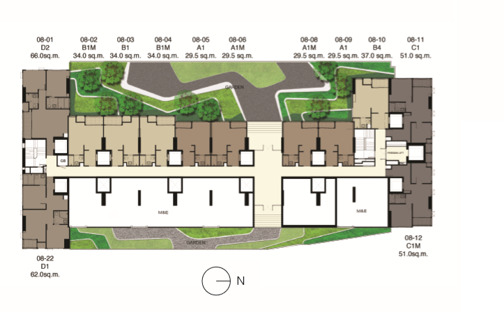 Ideo Q Siam – Ratchathewi, Diamond, Site Plan
