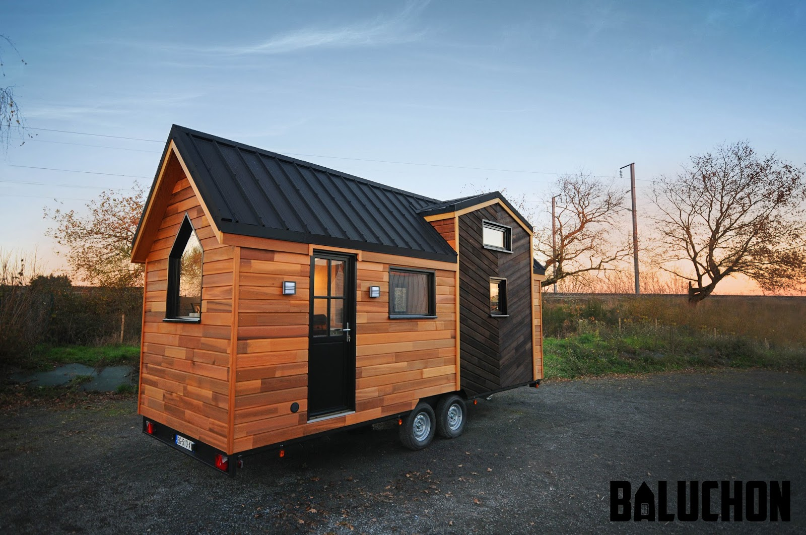 tiny house town the calypso tiny house from baluchon. Black Bedroom Furniture Sets. Home Design Ideas