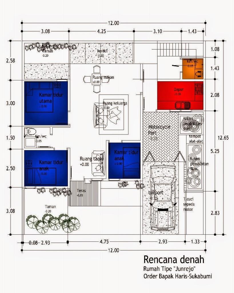 Memiliki rumah dengan lebar dan panjang yang pas merupakan suatu keberuntungan tersendiri Desain Rumah Minimalis 10 X 10 Type 100