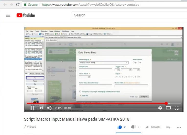 Input Siswa Manual Dengan Script Imacros Di SIMPATIKA 2018 Bisa