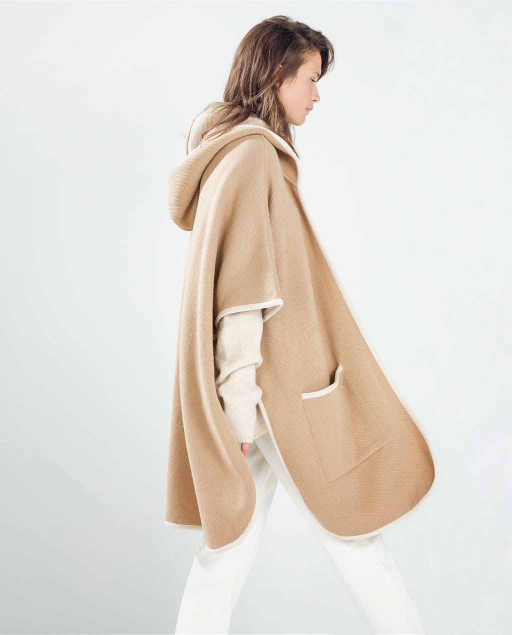 hooded cape, zara