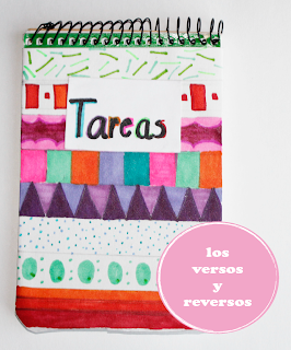 Cuaderno infantil decorado coloreando