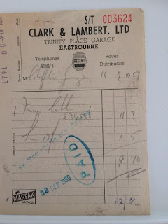 Clark & Lambert Ltd invoice dated 16 September 1957