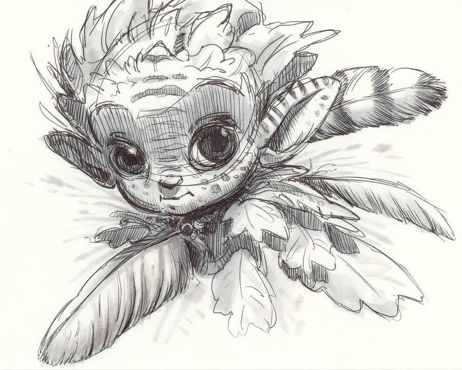 05-Aaron-Blaise-Creature-Sketches-www-designstack-co