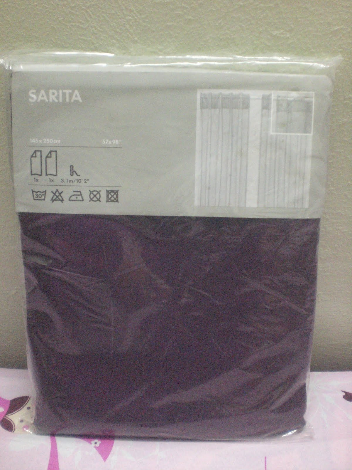 HUGZKISSESEVERYDAY: Ikea Curtain (Purple) - Design 2