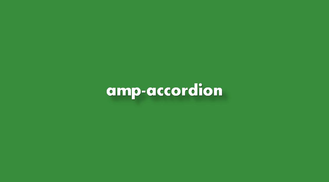 Instrucciones ¿Agregar amp-accordion?