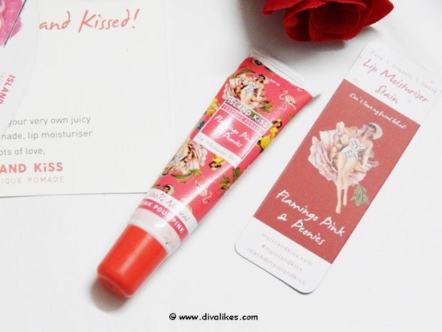 Island Kiss Flamingo Pink and Peonies Lip Moisturiser Stain Review