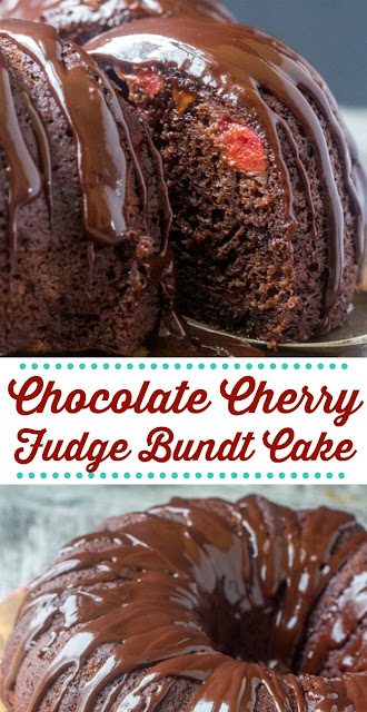 This fun chocolate and cherry filled bundt cake comes together in a snap and is so much fun to serve and eat. It was one of the recipes that my mom had loaded and ready in the recipe box she gave me and it is a family favorite!