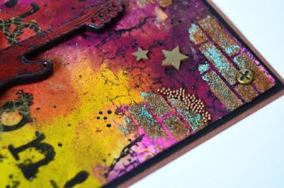 Mixed media, текстурная паста, штампы, эмбоссинг, самодельные спреи