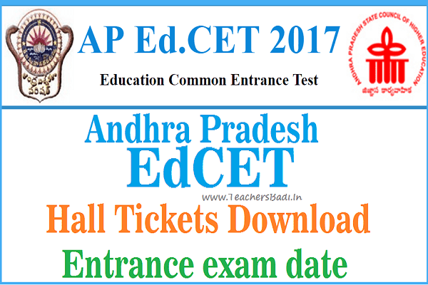 AP EdCET 2017 Hall Tickets, Entrance exam date 2017