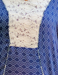 Tea House top from Indiesew with lace panel