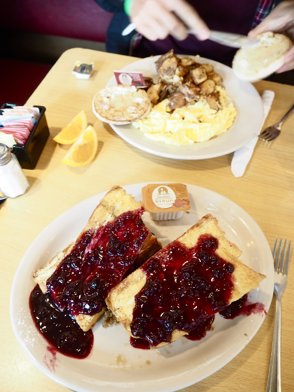 Trident Booksellers Cafe breakfast - how to spend 36 hours in Boston