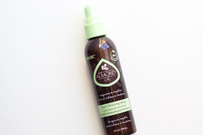 hask hair mint almond oil root thickening spray review