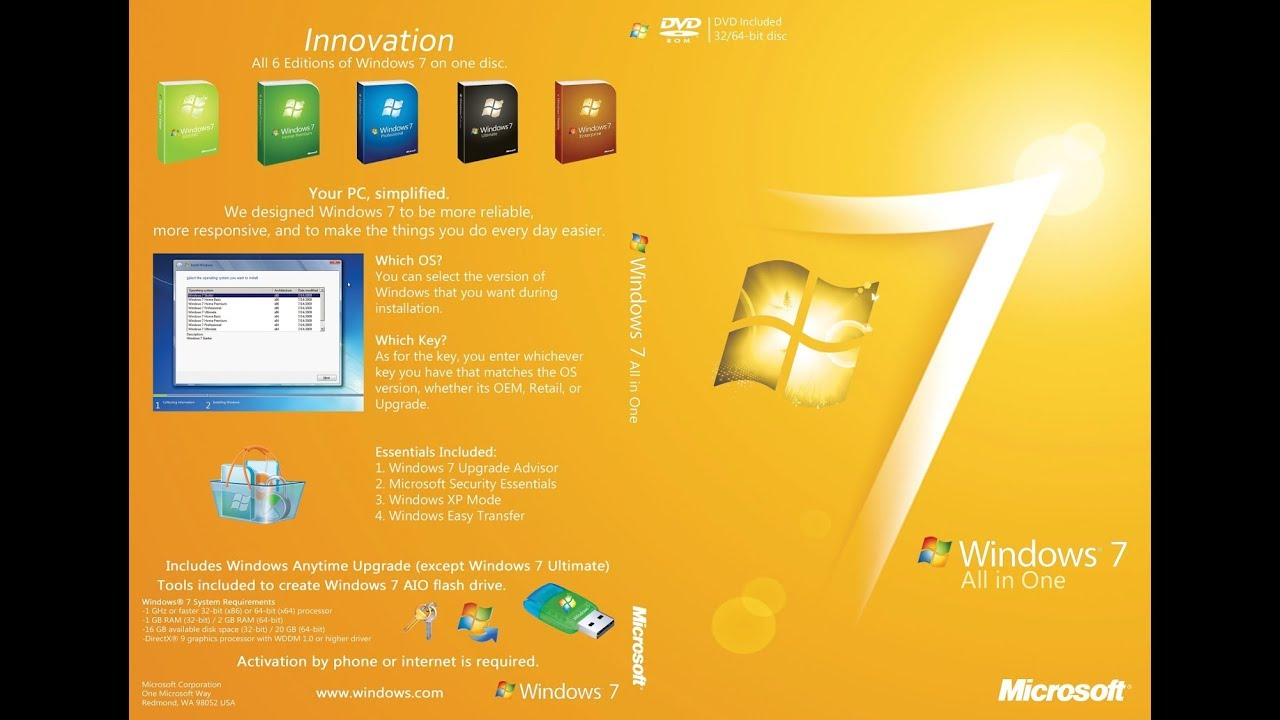Windows 7 AIO 32 / 64 Bit Feb 2019 Free Download | SHAKIRIt com