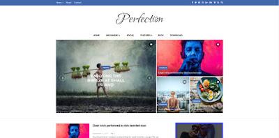 Perfection шаблон blogger слайдер