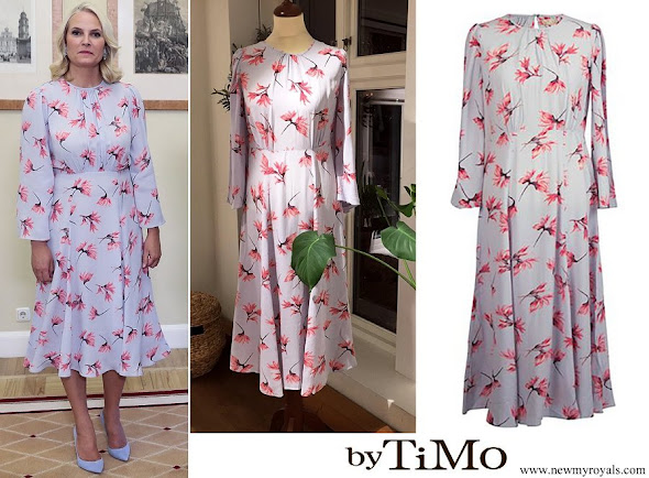 Crown Princess Mette Marit wore by Ti Mo Flared Midi Dress
