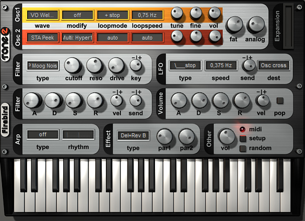 VST Plugins Free Download: Firebird 2 - Tone2 Synthesizer