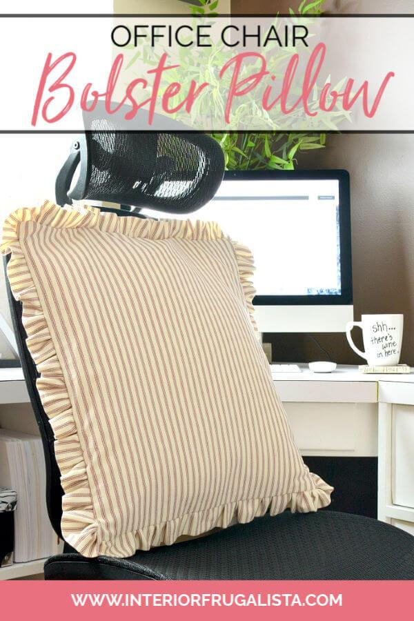 Office Chair Bolster Pillow With Farmhouse Charm