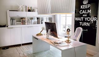 moderna oficina en casa