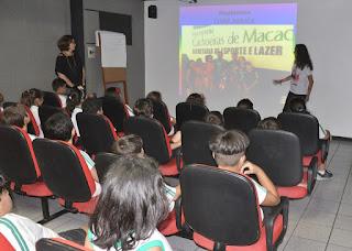 CESO recebe Anninha, jovem atleta que foi selecionada para conduzir a tocha olímpica em Teresópolis, para conversar com os estudantes